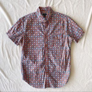 J. Crew Secret Wash Short Sleeve Poplin Shirt